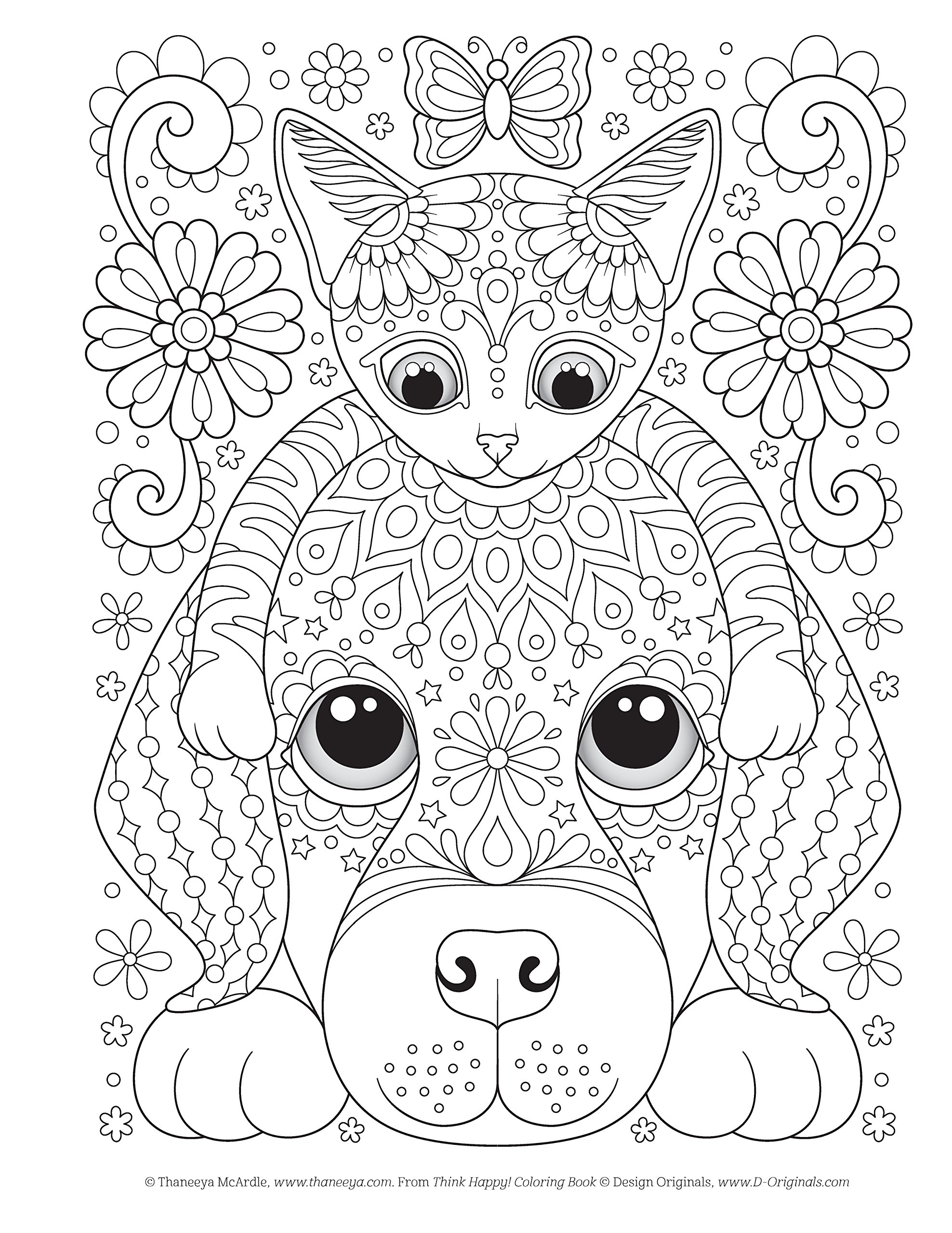 Groovy Heart Coloring Page from Thaneeya McArdle's Power of Love ... | 2560x1976