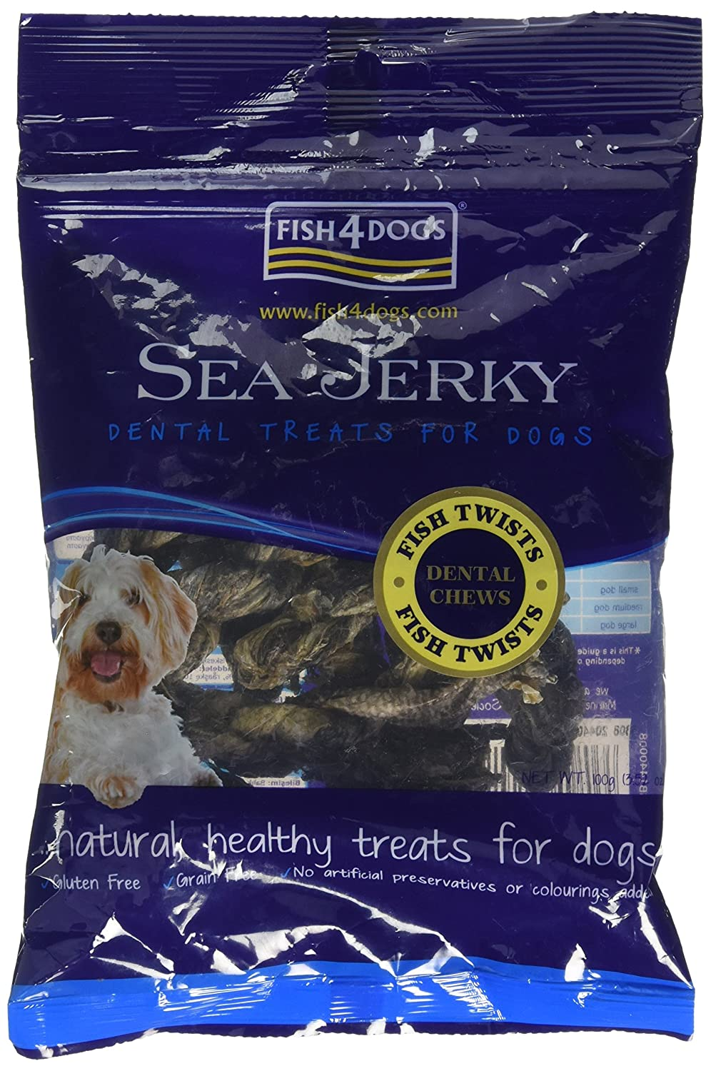 (2 Pack) Fish4Dogs - Sea Jerky Fish Twists 100g