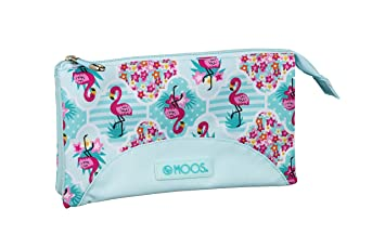 Moos Flamingo Turquoise Oficial Estuche Escolar 220x30x100mm ...
