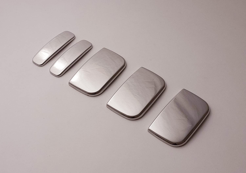 Chrome Stainless Steel 5 Door Handle Covers 5 Piece Set