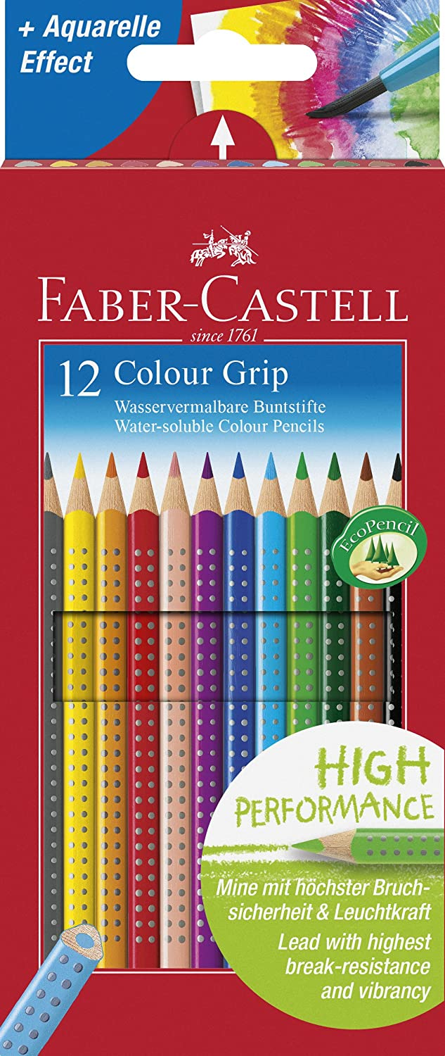 Faber-Castell Tin of 36 Colour GRIP 2001 pencils F112435