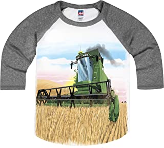 product image for Shirts That Go Little Boys' Combine Harvester Raglan T-Shirt