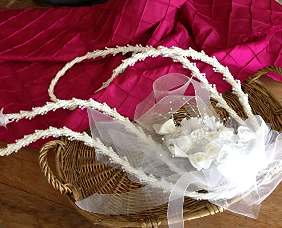 Amazon.com : Traditional Wedding Lasso White/ Lazos De Boda Tradicional En Blanco : Wedding Ceremony Accessories : Everything Else