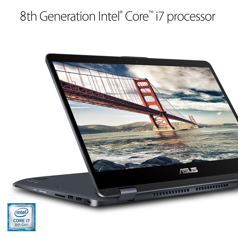 "ASUS VivoBook Flip Thin and Light Laptop, 15 6"" Full HD Touchscreen, Intel  Core i7-8550U Processor, 8GB RAM, 1TB HDD, Windows 10, Stylus, Fingerprint,"
