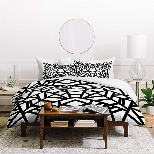 Amazon Com Geometric Duvet Cover Set Twin Xl Size Black White