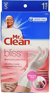 Mr. Clean Bliss Premium Latex-Free Gloves, Small, 4 pairs