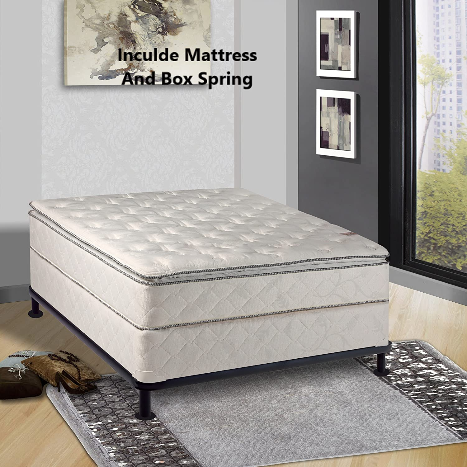 Amazon Com Continental Sleep 10 Inch Medium Mattress Queen Size