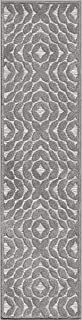 """product image for Orian Rugs Boucle High-Low Indoor/Outdoor Sandpiper Runner, 1'10"""" x 5', Silverstone"""