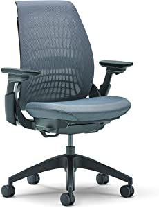 Allsteel Black Mimeo Task Chair with Lumbar, Weight-Activated, Mesh Back and 4-D Adjustable Arms