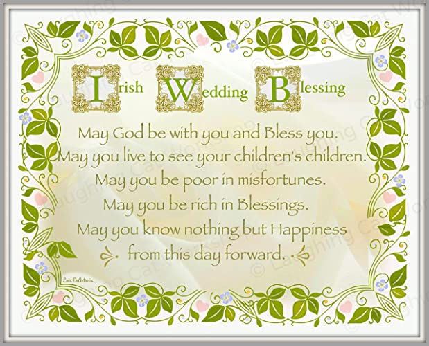 Amazon Irish Wedding Art God Blessing Irish Wedding Decor