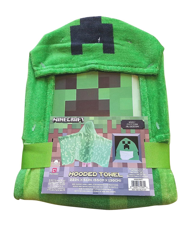 Minecraft Creeper Hooded Bath Towel Mojang