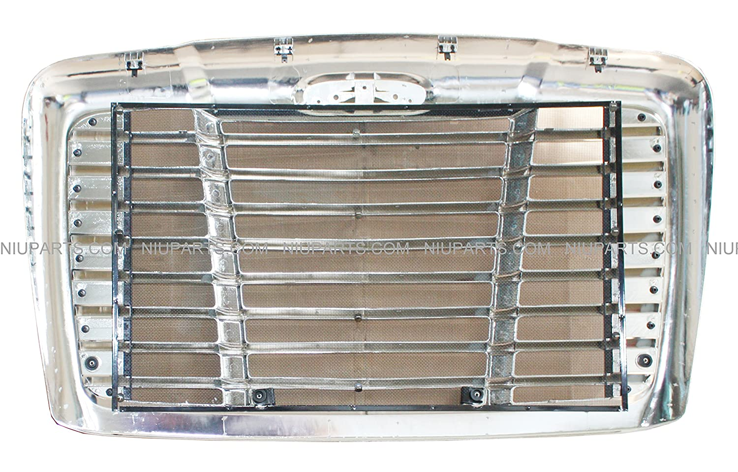 Fit: Freightliner Cascadia Grille Chrome with Bug Net 2007-2017