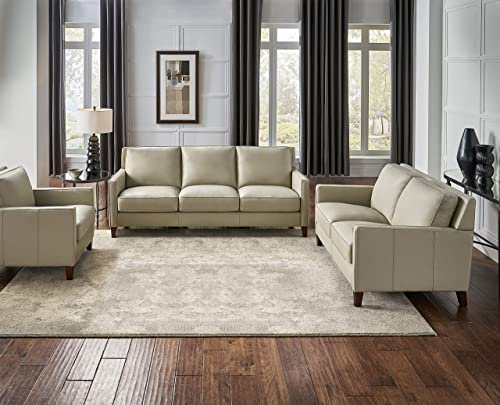Hydeline Ashby 100 Leather Sofa Set Sofa, Loveseat, Chair, Ice