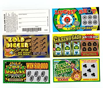 5 FAKE ALL WINNING SCRATCH OFF LOTTERY TICKETS - PRANK - GAG - JOKE by  Hikingsters