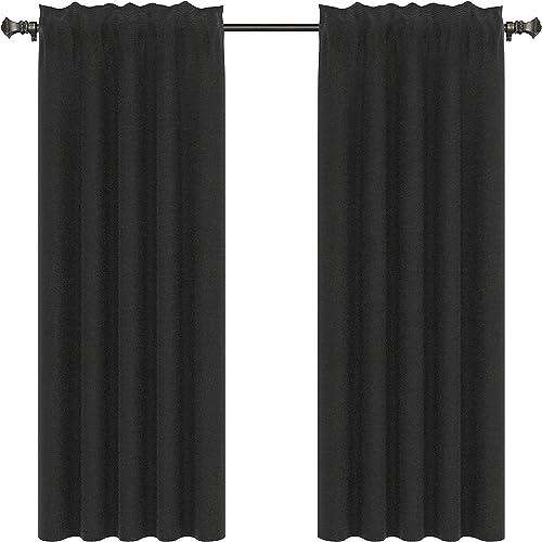 Urbanest Pair of 2 Faux Silk Drapery Curtain Panels