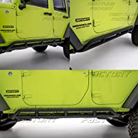UDIT 07-18 Jeep Wrangler JK 4 Door Body Side Armor Rocker Guard Rock Slider Black Textured Pair