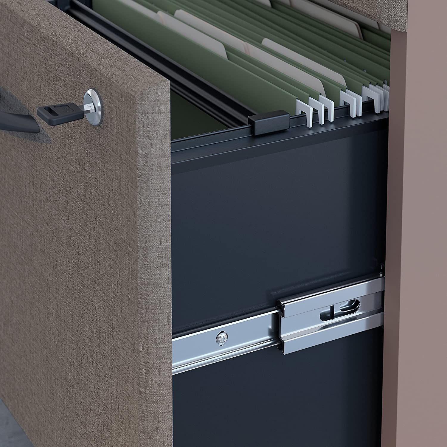 Bush Business Furniture WC14552P Series A 2 Drawer Mobile File Cabinet Pewter