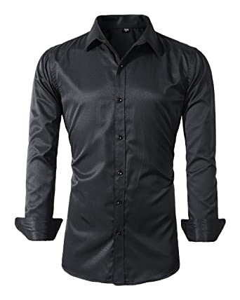 Mens Long Sleeve Slim Fit Dress Shirts At Amazon Mens Clothing Store