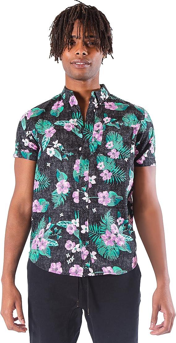 Brooklyn Athletics Hawaiian Aloha Shirt Vintage Casual Button ...