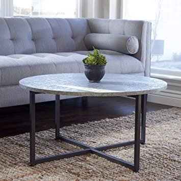 Superb Household Essentials Round Gray Coffee Table Grey Slate Lamtechconsult Wood Chair Design Ideas Lamtechconsultcom