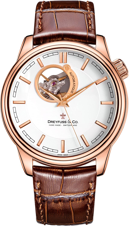 Dreyfuss & Co Reloj Esqueleto para Hombre de Automático con Correa en Cuero DGS00163/02
