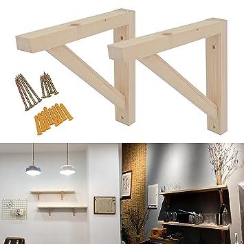 Amazon.com: OVOV - Juego de 2 soportes de pared para estante ...