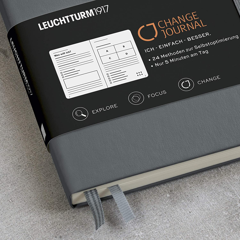 LEUCHTTURM1917 360442 Change Journal Medium Anthrazit A5 Deutsch