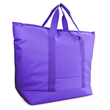 b89efbef3730 Image Unavailable. Image not available for. Color  DALIX 25 quot  Large  Insulated Tote Cooler Bag w Zipper ...