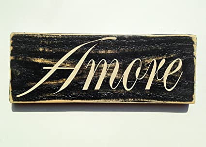 Shabby Chic Kitchen Signs : Amazon.com: amore shabby country chic italian love rustic custom