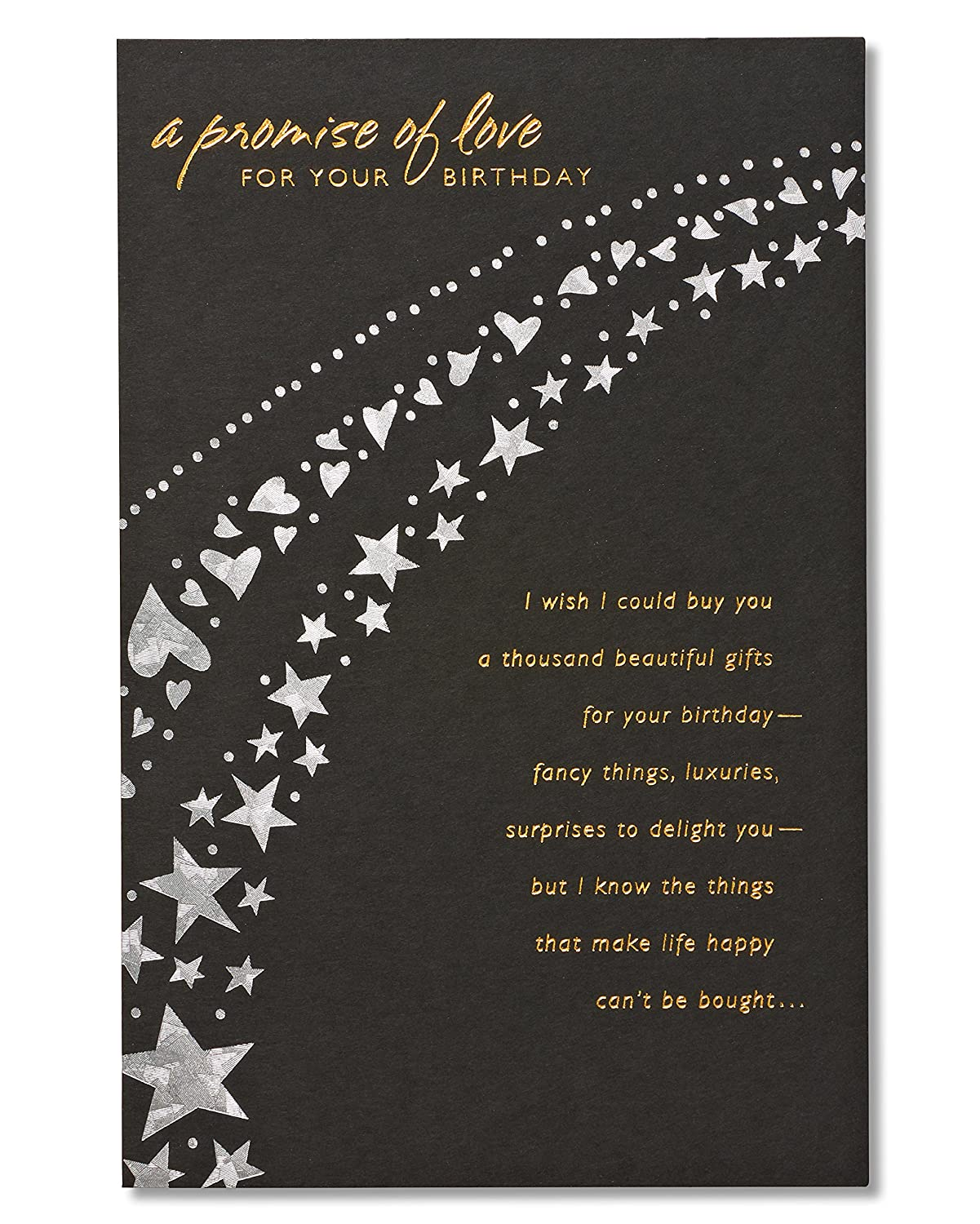 Amazon american greetings a promise of love birthday card for amazon american greetings a promise of love birthday card for sweetheart with foil american greetings office products kristyandbryce Choice Image