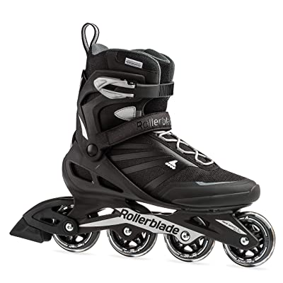 Rollerblade Zetrablade Men's Adult Fitness Inline Skate, Black and Silver, Performance Inline Skates : Sports & Outdoors