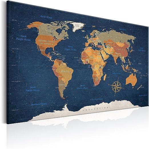 Pinnwand Weltkarte Ice Weltkarten24