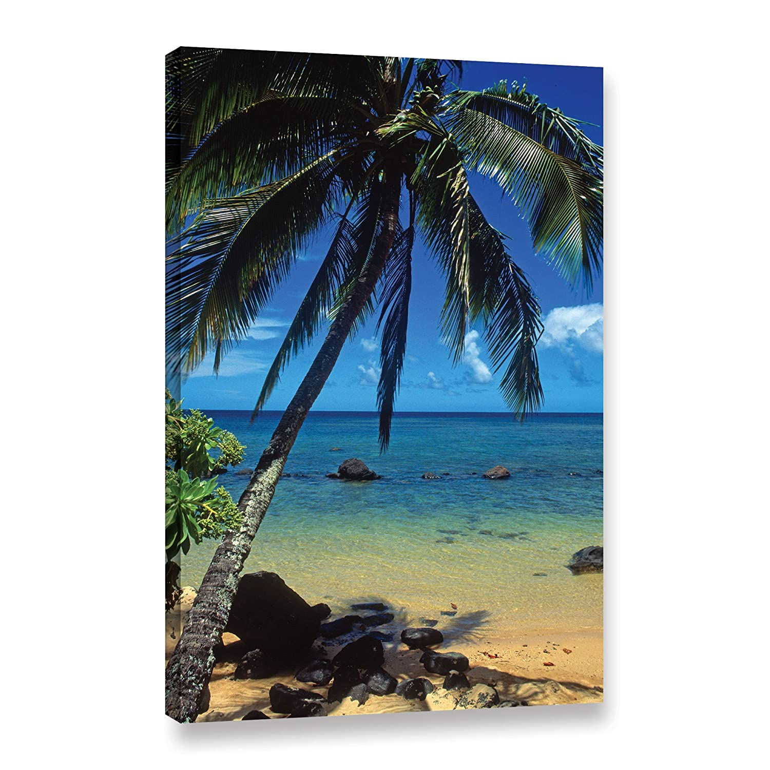 ArtWall Beautiful Animi Beach Gallery Wrapped Canvas by Kathy Yates, 32 by 48-Inch