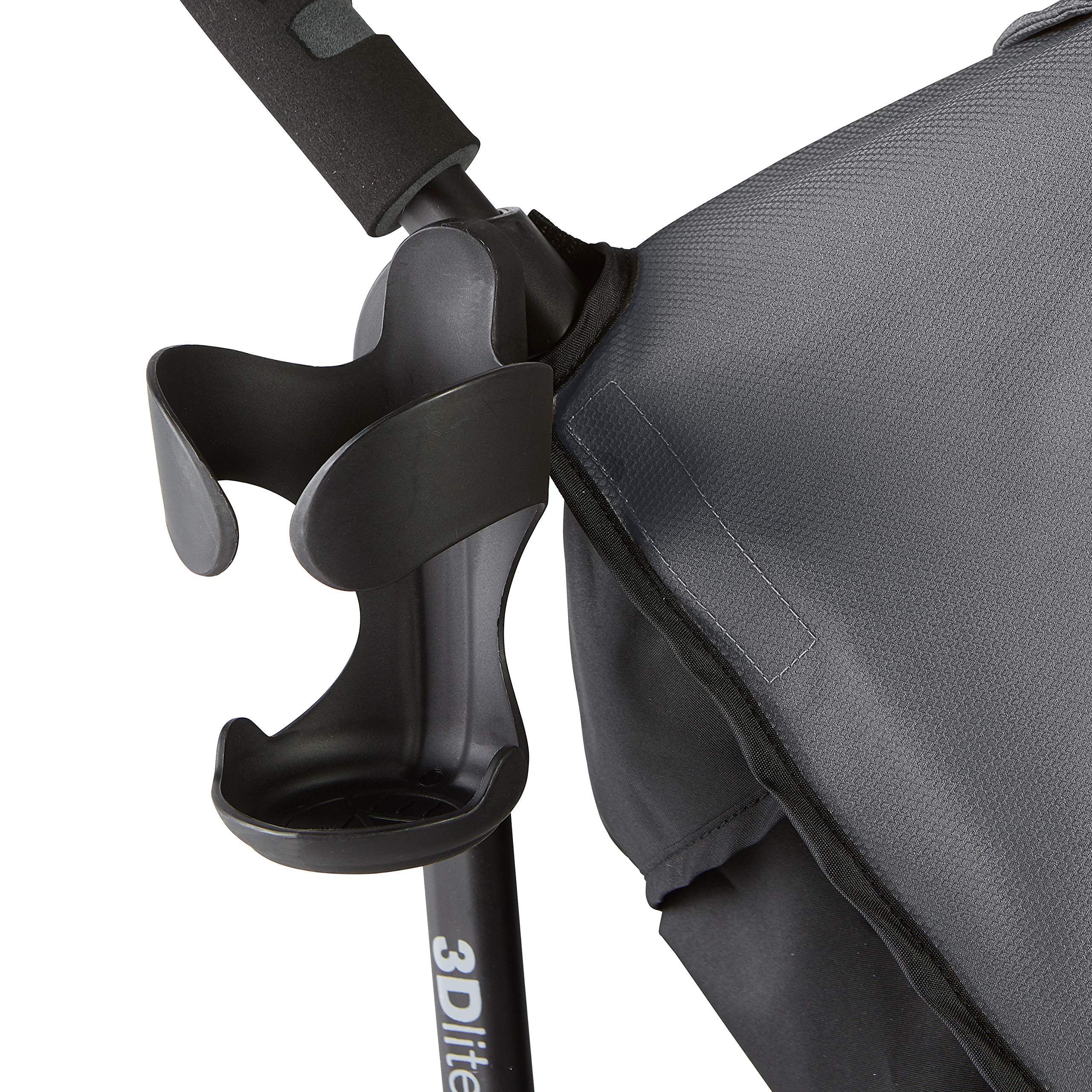 Summer 3Dlite+ Convenience Stroller, Matte Gray - Lightweight Umbrella Stroller with Oversized Canopy, Extra-Large Storage and Compact Fold by Summer Infant (Image #4)