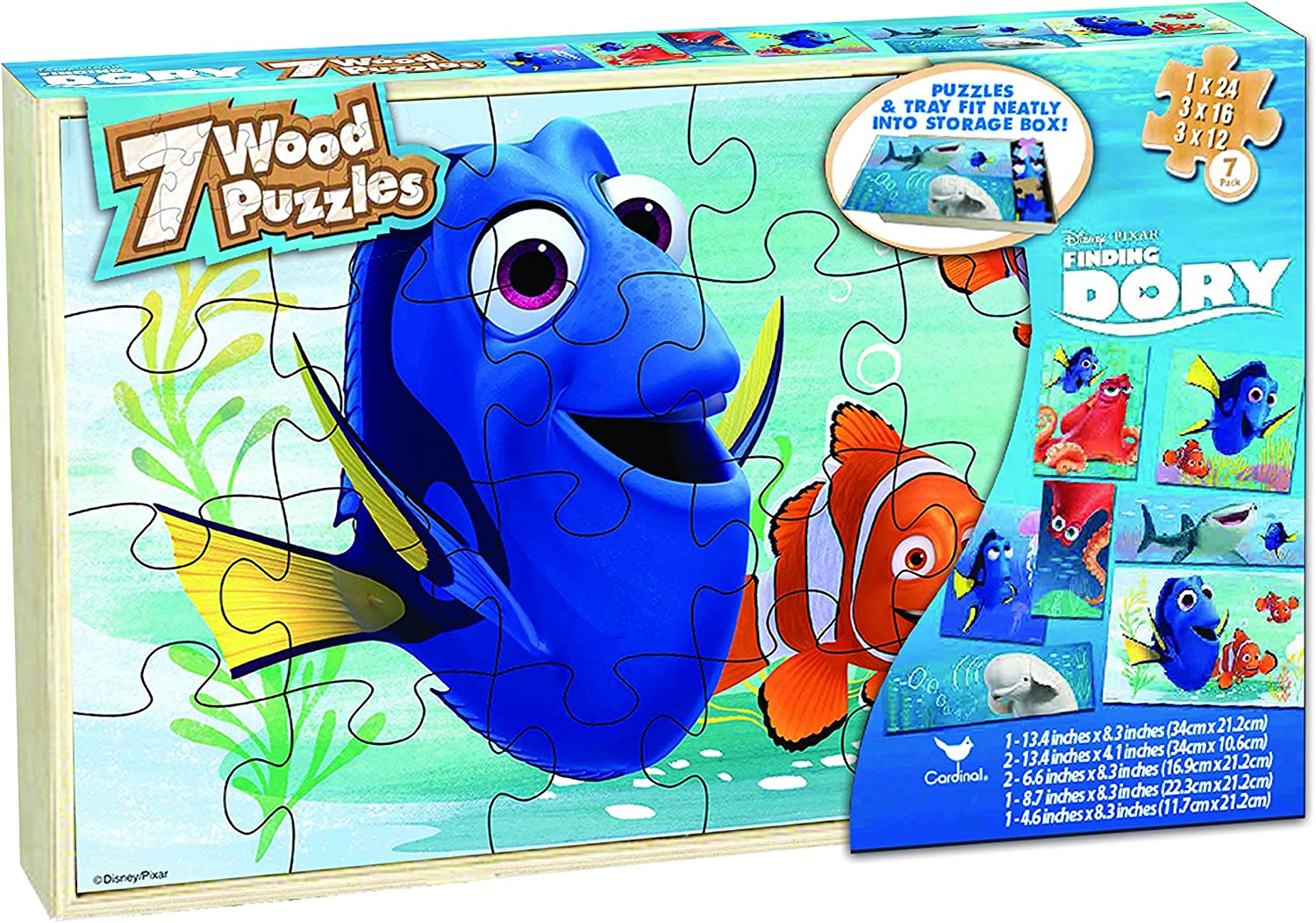 Disney Finding Dory 7 Wood Puzzle Box by