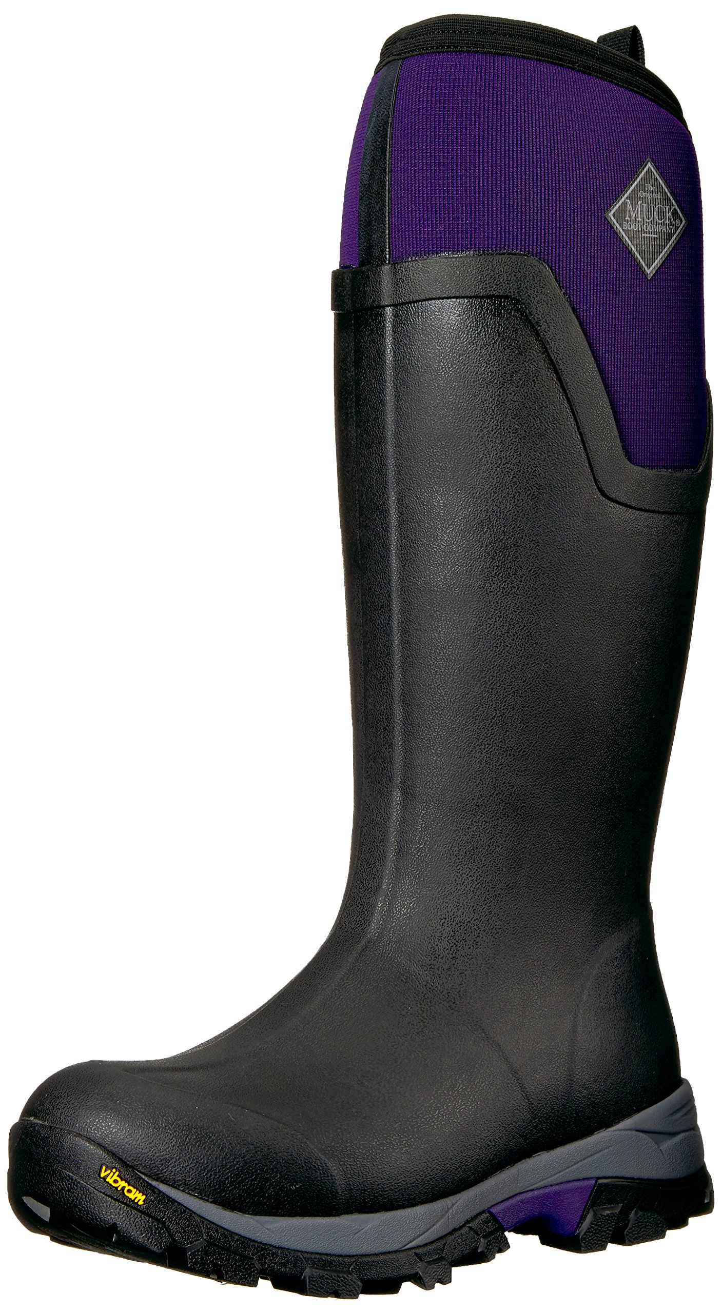 Muck Boot Women's Arctic Ice Tall Work Boot, Black/Purple, 8 M US by Muck Boot