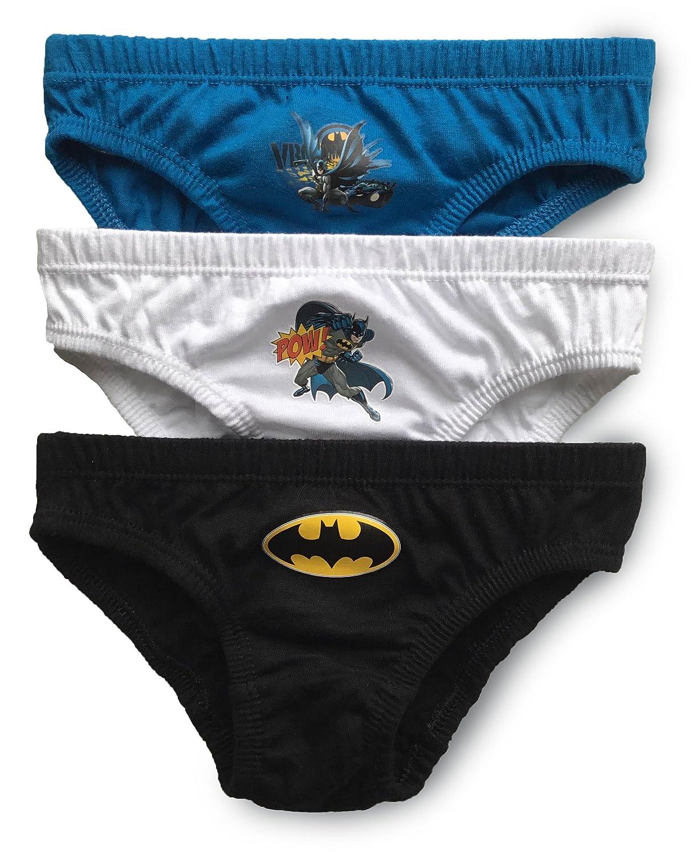 Boys Batman Briefs Pants Underpants Underwear - 3 Pack - Official Licenced 100% Cotton (BK)