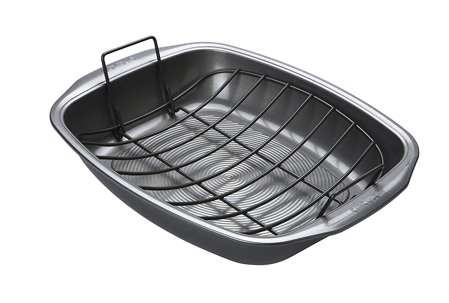 Circulon Momentum Bakeware Steel Non-Stick Roaster and Rack, Carbon, Grey, 39 x 31.5 cm Meyer Group Ltd. 46149