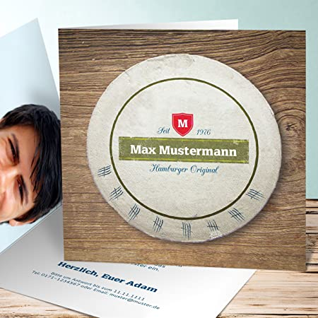 Beer Mats Personalised with YOUR image and//or your text