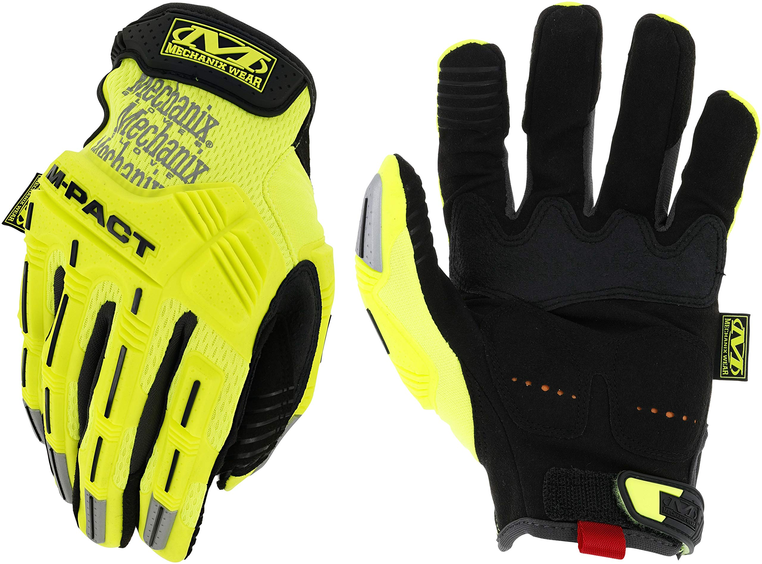MECHANIX WEAR SMP-91-012 Impact Gloves, 2XL, Hi-Vis Yellow, PR by Mechanix Wear