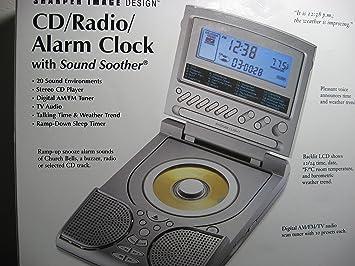 Sharper Image Si686 Cd Radio Alarm Clock With 20 Sound Amazoncouk