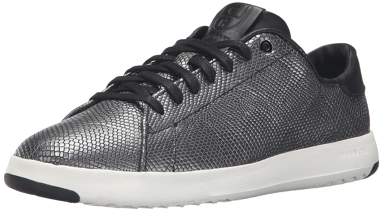 Cole Haan Women's Grandpro Tennis Leather Lace OX Fashion Sneaker B01DEL7KQ8 11 B(M) US Black/Gunmetal Foil Snake Print