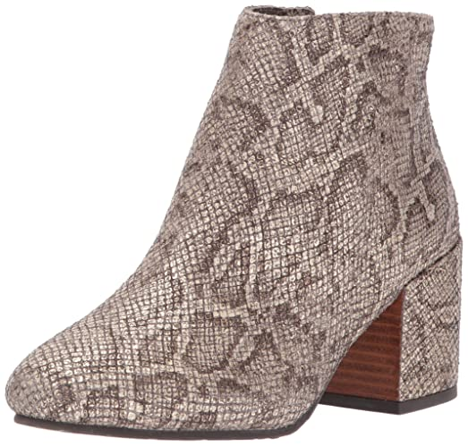 Women's Blaise Side Zip Covered Block Heel Emb Ankle Bootie