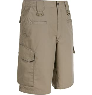 0171996216 Leehanton Mens Cargo Shorts Casual Elastic Waist Cotton Lightweight ...
