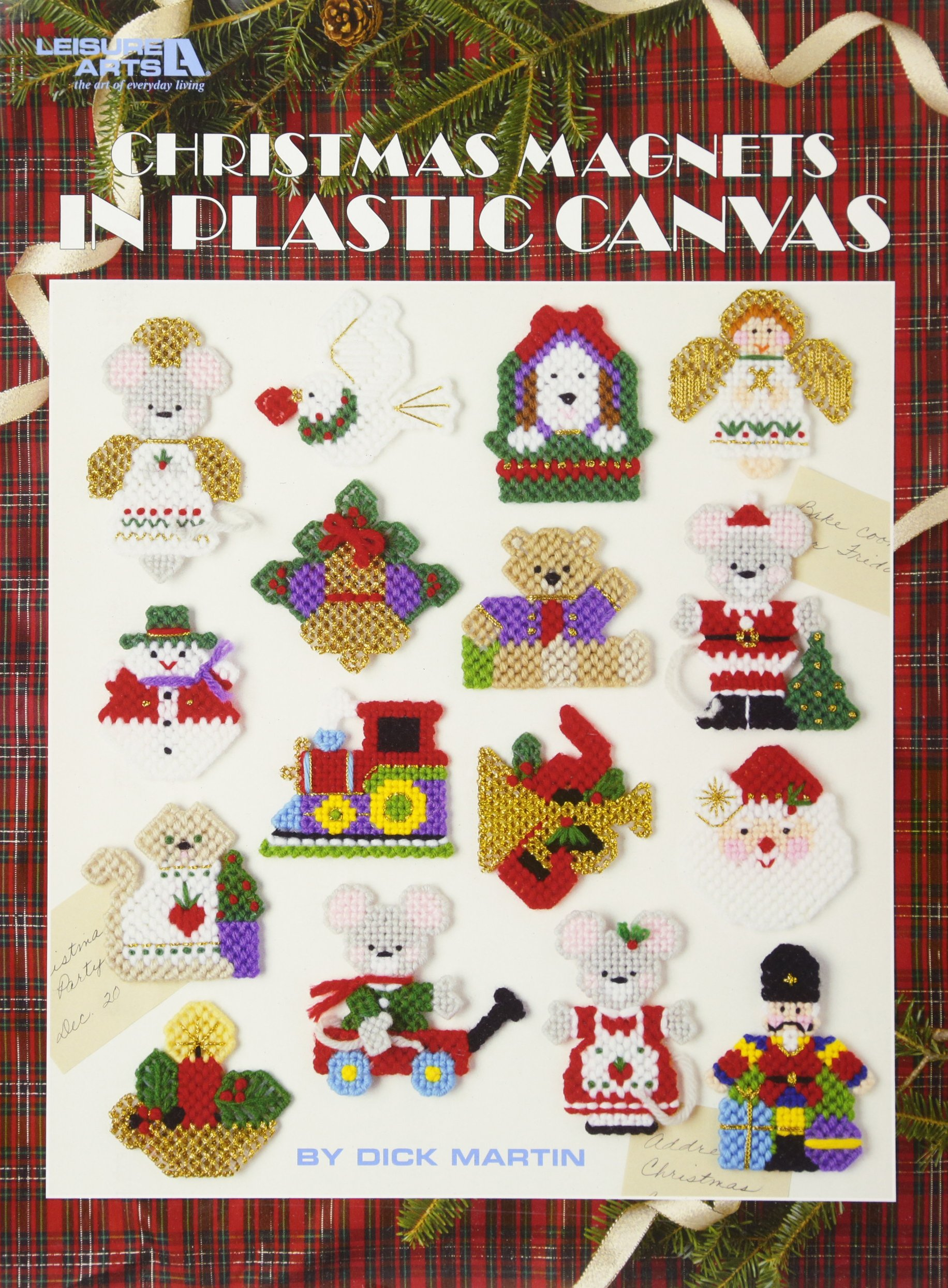 Christmas Magnets in Plastic Canvas  (Leisure Arts #5157)