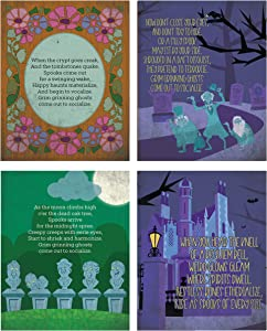 Silly Goose Gifts Haunted Mansion Themed Halloween Wall Art Prints (Set of Four) 8x10in Decoration