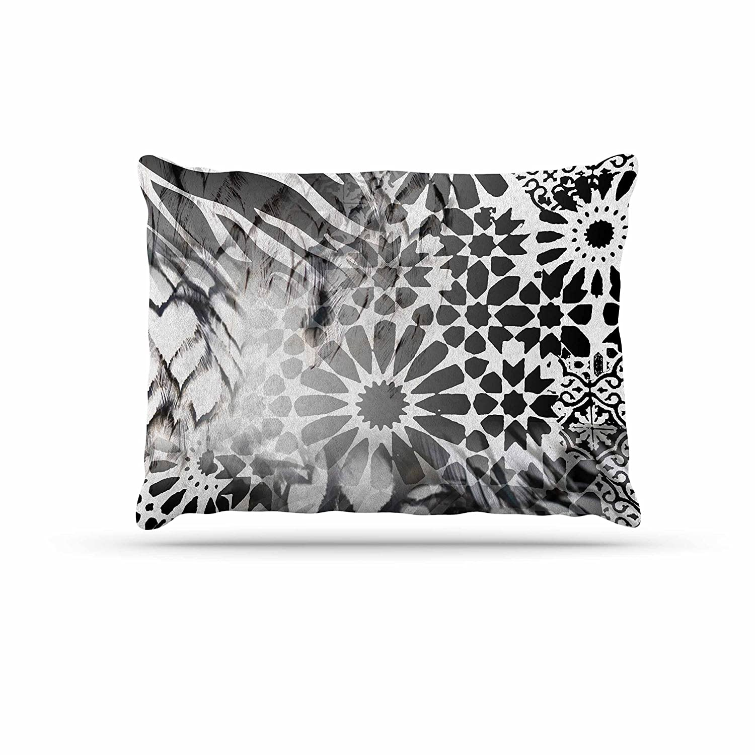 KESS InHouse Victoria Krupp Out of Mgoldcco Black Abstract Dog Bed, 50  x 40