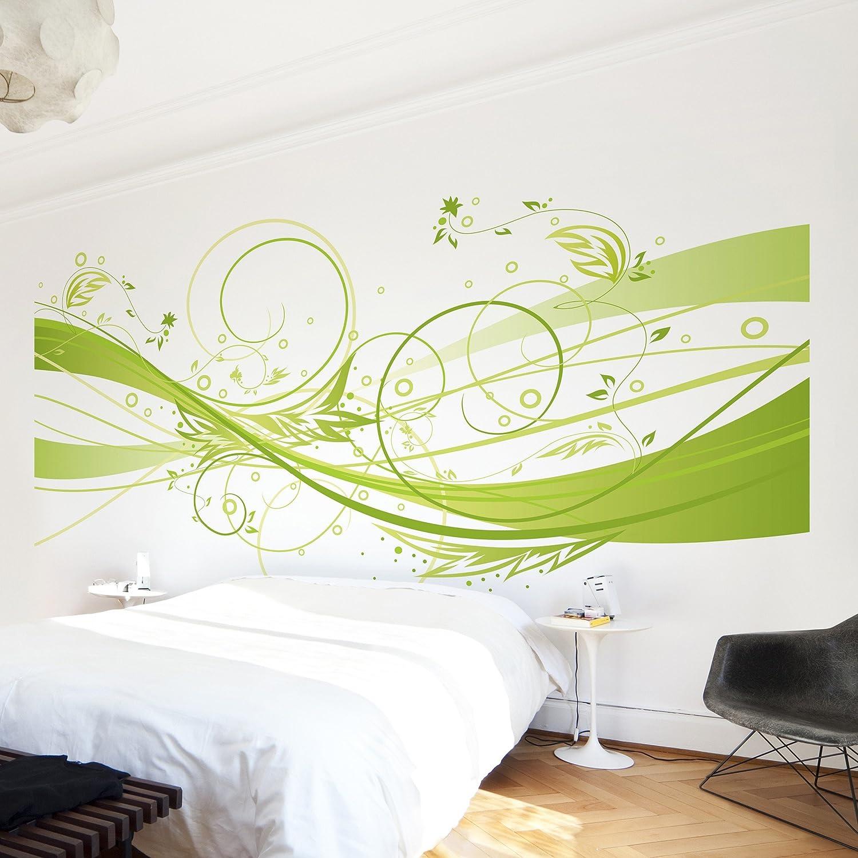 Apalis Vliestapete March Fototapete Breit   Vlies Tapete Wandtapete Wandbild Foto 3D Fototapete für Schlafzimmer Wohnzimmer Küche   grün, 94969