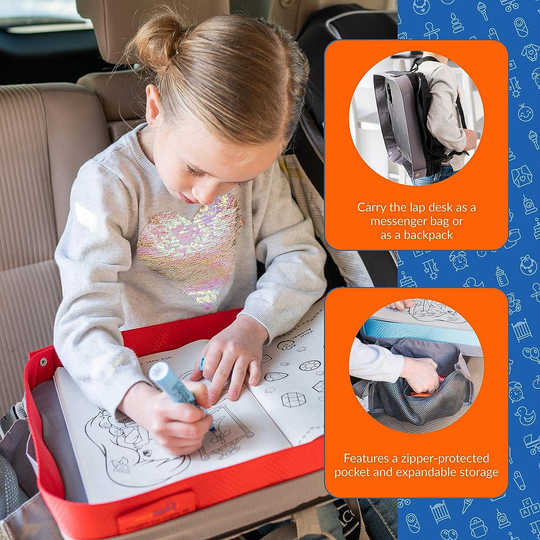 accesso organizzato a disegno snack e attivit/à per ore On-The-Go Modfamily Kids E-Z Travel lap tray nero//grigio, 38/x 30/x 8/cm