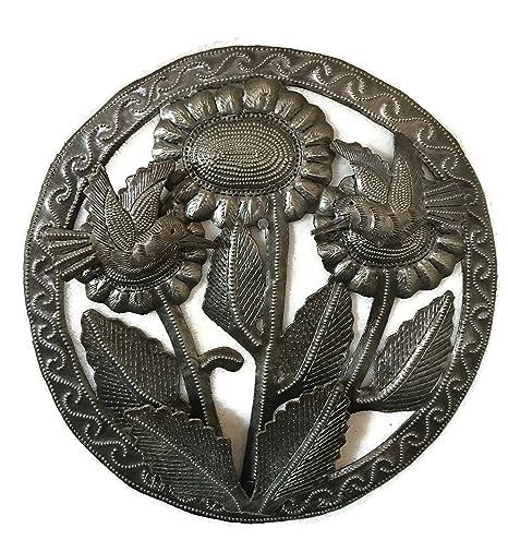 Amazon.com: Girasoles y colibríes reciclado jardín Arte de ...